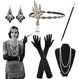 Alintor 20er Jahre Accessoires, 1920s Federboa Kostüm Damen Accessoires, 20er Jahre Kleid Set,...